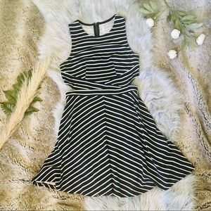 XHILARATION Cutout Striped Dress
